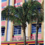"SOLD! ""Carlyle Hotel, Miami Beach."" Gouache. Collection of Von Hengst family."