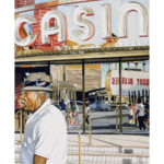 "SOLD! ""Casino,"" Gouache and airbrush. Size (approx) 16x24"". $800."