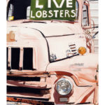 "SOLD! ""Live Lobsters."" Gouache. Collection of Andrea Flamburis."