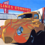 "SOLD! ""Clines Corners,"" 14.25"" x 14.75"", Gouache. $500. SOLD!"