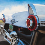 "SOLD! ""Ford Fairlane."" Gouache. Collection of John Earls."