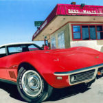 "SOLD! ""Portales Corvette."" Gouache. Commission for Robin Rowley May."