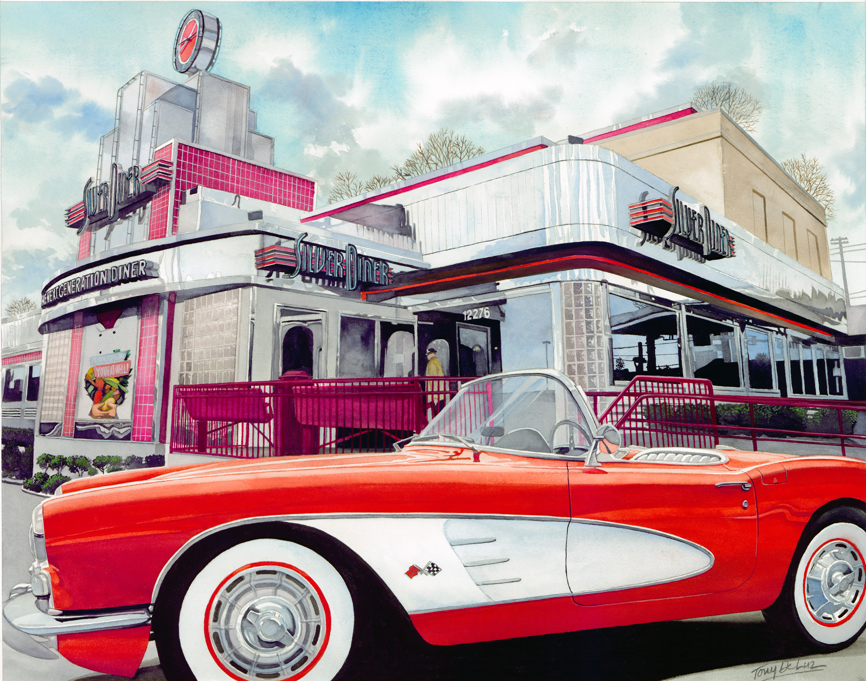 "SOLD! ""Silver Diner."" Collection of Von Hengst Family."