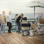 """Thursday at the Pier."" 11.75x16.5"". Watercolor. $400."