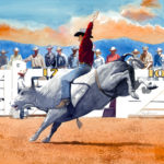 "SOLD! ""Salinas Rodeo."" Watercolor. Collection of Mary Page."